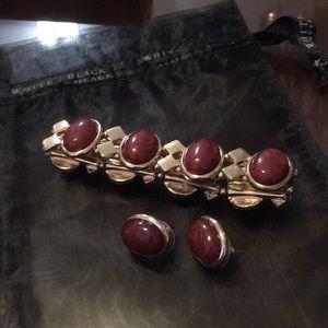 Whbm earrings and bracelet